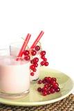 Redcurrant milkshake Royalty Free Stock Images