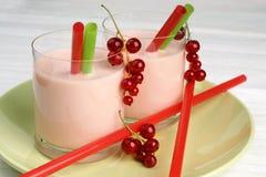 Redcurrant milkshake Royalty Free Stock Photo