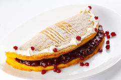 Redcurrant pancake. Is a specialitty in Slovenia Royalty Free Stock Image