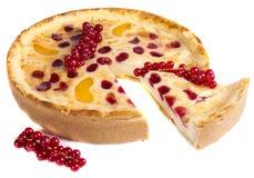 Redcurrant tart cake Stock Images