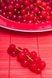 Redcurrants berries on a plate Stock Photo