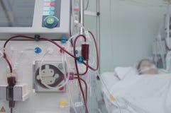 Redden van mensenlevens van de patiënt met high-tech materiaal in modern stock fotografie