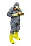 Redder in een beschermend kostuum stock afbeelding
