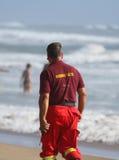 Redder op het strand Royalty-vrije Stock Afbeeldingen