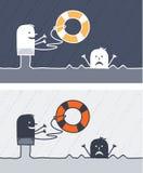 Redding gekleurd beeldverhaal vector illustratie