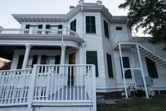 Old Mansion on the Mississippi Gulf Coast. stock images
