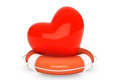 Reddingsboei voor het hart Stock Fotografie