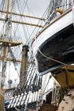 Reddingsboot en Bladen Royalty-vrije Stock Afbeeldingen