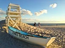 Reddingsboot in Jones Beach Royalty-vrije Stock Afbeeldingen