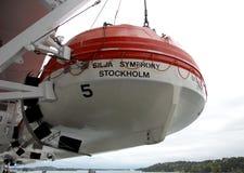 Reddingsboot op een veerboot Royalty-vrije Stock Afbeeldingen