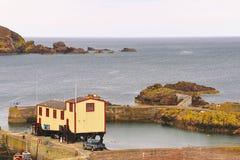 Reddingsboothuis, St Abbs, Schotland Royalty-vrije Stock Foto's