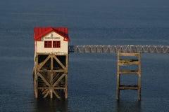 Reddingsbootpost Stock Foto