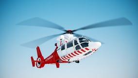 Reddingshelikopter Royalty-vrije Stock Foto's
