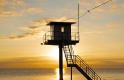 Reddingstoren - Oostzee - Usedom-Eiland royalty-vrije stock afbeelding