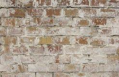 Reddish brown old brick wall. Textured background closeup. Reddish brown old brick wall, abstraction Royalty Free Stock Photos