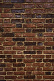Reddish Brown Old English Brick Wall. Old reddish brown brick wall in London Stock Photography