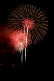 Reddish celebration fireworks Royalty Free Stock Images