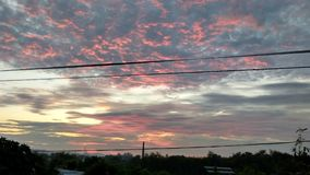 Reddish cloud. Clouds become reddish on sunset by reflecting red rays Royalty Free Stock Photo