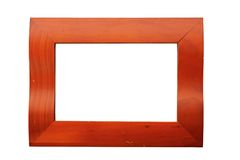 Reddish picture frame Stock Image