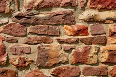 Reddish rock wall Royalty Free Stock Photography