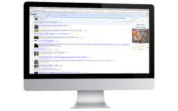 Reddit på en dator Royaltyfri Foto
