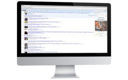 Reddit su un computer Fotografia Stock Libera da Diritti