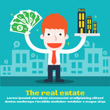Reddito di gestione di affari dai beni immobili royalty illustrazione gratis