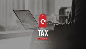 Reddito di rimborso di imposta che paga concetto di paga di dichiarazione del reddito fotografia stock