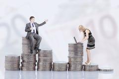 Reddito e genere Fotografia Stock Libera da Diritti