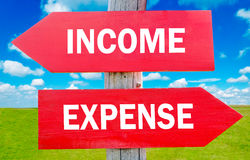 Reddito e spesa Fotografie Stock