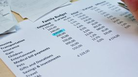 Reddito mensile e spese personali video d archivio