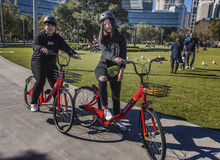 Reddy Go Hire Bicycles new to Sydney, Australia Royalty Free Stock Photos