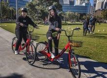 Reddy vai as bicicletas do aluguer novas a Sydney, Austrália Fotos de Stock Royalty Free
