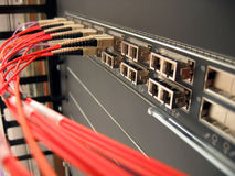 Rede ótica da fibra Fotografia de Stock Royalty Free
