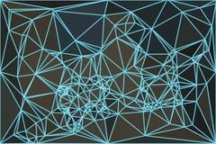 Rede abstrata baixo poli Imagem de Stock