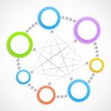 Rede abstrata com círculos Imagens de Stock Royalty Free