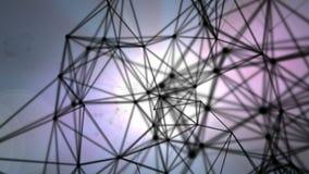 Rede abstrata da estrutura e das luzes Imagens de Stock Royalty Free