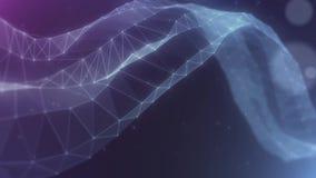 A rede abstrata do plexo intitula o fundo cinemático ilustração stock