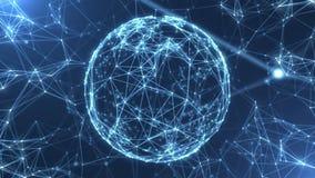 A rede abstrata do plexo intitula o laço do fundo da ciência da tecnologia ilustração do vetor