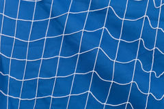 Rede branca sobre o fundo azul Foto de Stock