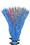 A rede cabografa, transmissão dos dados nas telecomunicações Fotografia de Stock