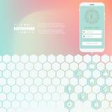 Rede criativa abstrata do hexágono do vetor do conceito Foto de Stock