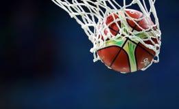 Rede da calha do basquetebol Fotos de Stock Royalty Free