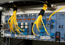 Rede da fibra óptica Fotos de Stock