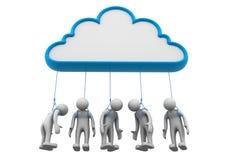 Rede da nuvem Imagens de Stock