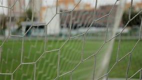 Rede da porta do futebol Tiro do close-up filme