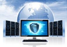 Rede da segurança de Intenet Imagens de Stock