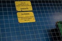 Rede da segurança em um bloco de pilha na prisão de HMP Shrewsbury, Dana Fotos de Stock