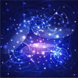 Rede da tecnologia do mundo e fundo, vetor & ilustração digitais Imagens de Stock Royalty Free