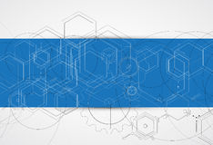 Rede da tecnologia emergente Foto de Stock